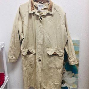 Brandon Thomas vintage tan trench coat M